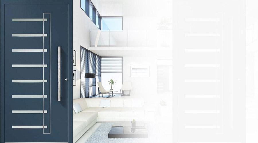 gro e glasfl chen erlauben den blick ins gr ne. Black Bedroom Furniture Sets. Home Design Ideas